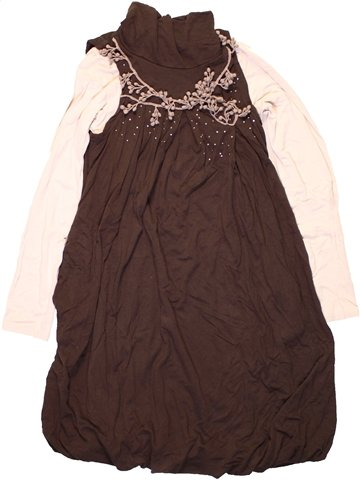 Vestido niña JEAN BOURGET marrón 8 años invierno #1224668_1