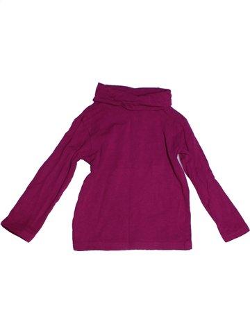 Camiseta de cuello alto niña GEMO violeta 3 años invierno #1224772_1