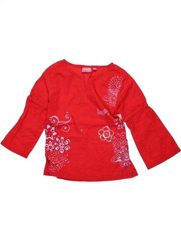 Blouse manches longues fille LONGBOARD rouge 2 ans hiver #1225097_1