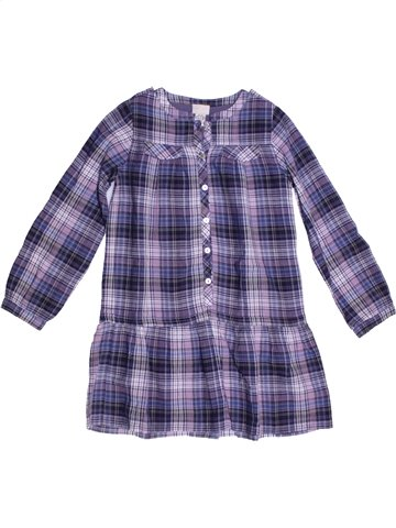 Vestido niña CYRILLUS violeta 6 años invierno #1225649_1