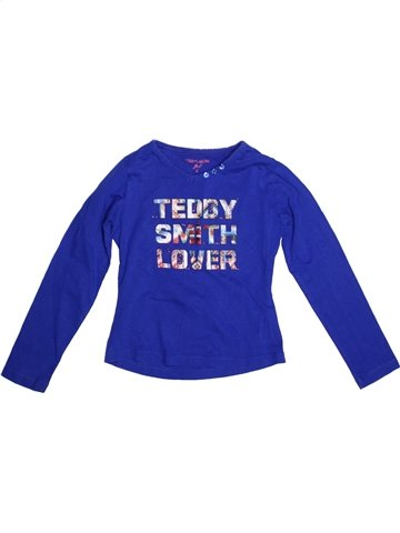 T-shirt manches longues fille TEDDY SMITH violet 6 ans hiver #1227970_1
