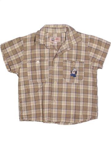 Chemise manches courtes garçon FLORIANE gris 2 ans été #1228529_1