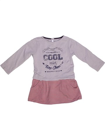 Robe fille SUCRE D'ORGE rose 2 ans hiver #1229204_1