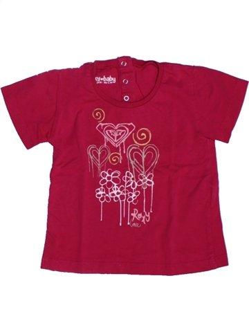 T-shirt manches courtes fille ROXY rouge 2 ans été #1229217_1