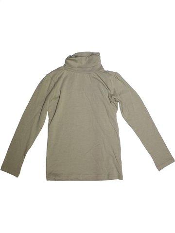 T-shirt col roulé fille ALIVE beige 10 ans hiver #1229764_1