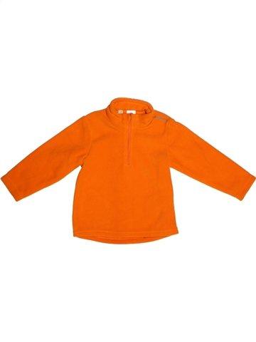 Pull garçon QUECHUA orange 2 ans hiver #1230038_1