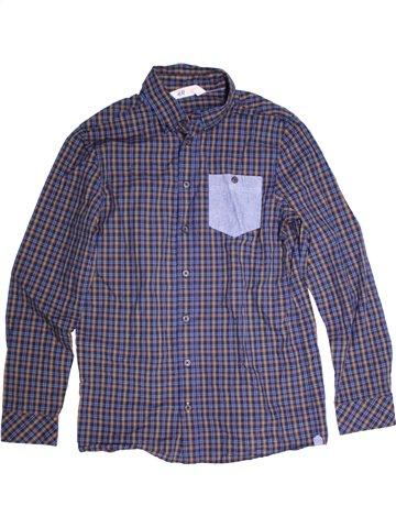 Chemise manches longues garçon H&M bleu 13 ans hiver #1230610_1