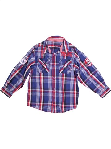 Chemise manches longues garçon MATALAN bleu 7 ans hiver #1232422_1