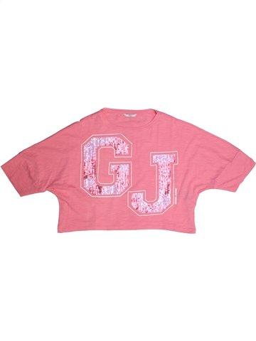 T-shirt manches courtes fille GUESS rose 12 ans été #1232807_1