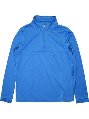 T-shirt manches longues garçon CRANE bleu 14 ans hiver #1232852_1