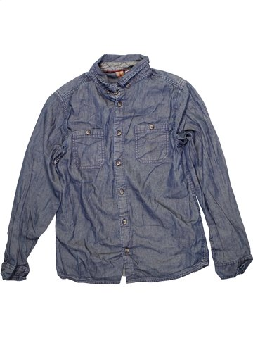 Chemise manches longues garçon URBAN 65 OUTLAWS bleu 11 ans hiver #1233171_1