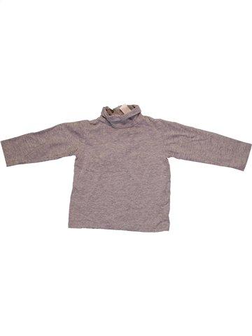 T-shirt col roulé garçon ZARA gris 12 mois hiver #1233191_1
