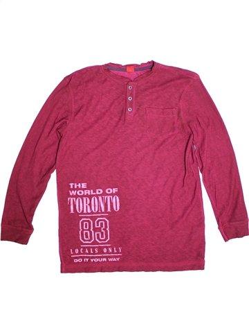 T-shirt manches longues garçon S OLIVER rose 14 ans hiver #1233595_1