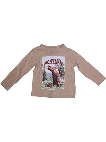 Camiseta de manga larga niño MONOPRIX beige 4 años invierno #1235252_1