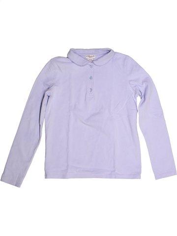 Polo manches longues fille CYRILLUS violet 10 ans hiver #1236231_1