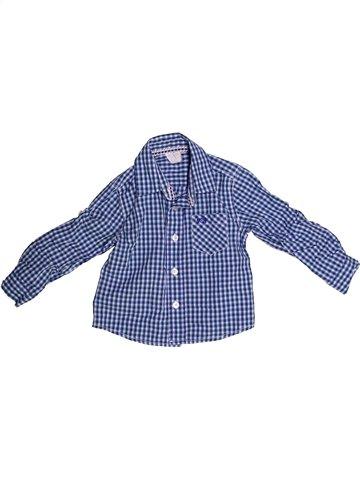 Chemise manches longues garçon JASPER CONRAN bleu 3 ans hiver #1237361_1