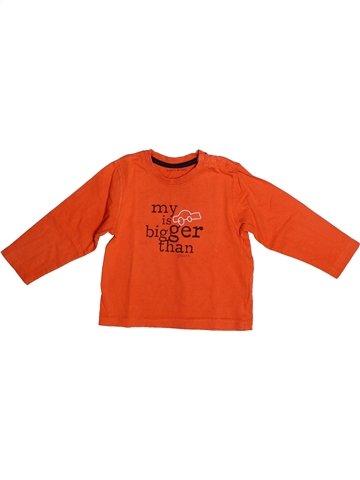 T-shirt manches longues garçon GRAIN DE BLÉ orange 2 ans hiver #1237596_1