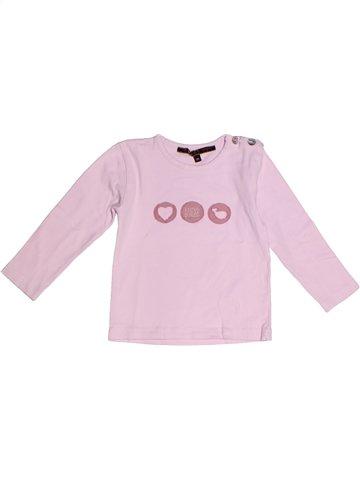 T-shirt manches longues fille LE PHARE DE LA BALEINE rose 2 ans hiver #1237749_1