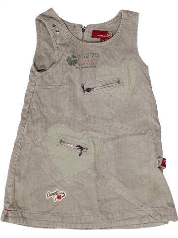 Robe fille COMPLICES gris 3 ans hiver #1237788_1