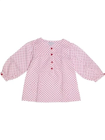 Blouse manches longues fille KIMBALOO rose 2 ans hiver #1238036_1