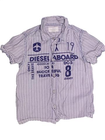 Chemise manches courtes garçon DIESEL violet 6 ans été #1238625_1