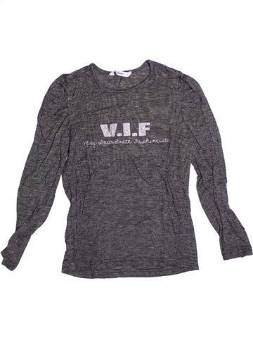 T-shirt manches longues fille 3 POMMES gris 8 ans hiver #1238963_1