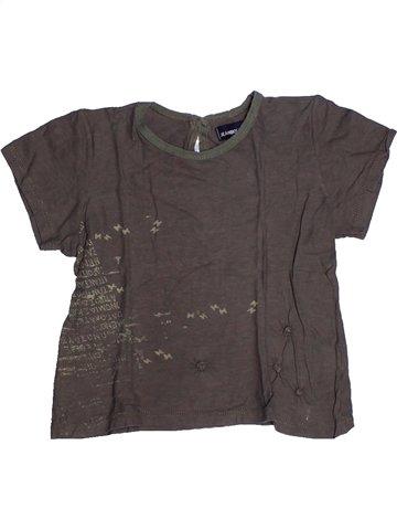 T-shirt manches courtes fille JEAN BOURGET gris 6 ans été #1239656_1