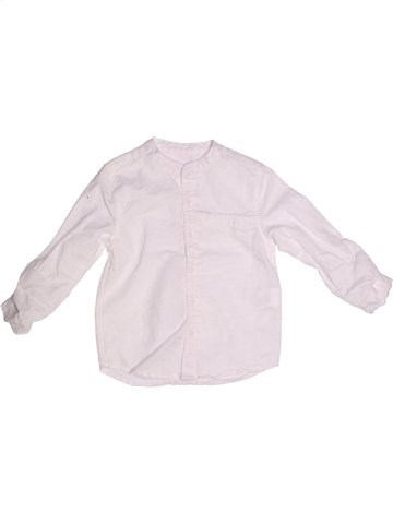 Chemise manches longues garçon DPAM rose 3 ans été #1239714_1