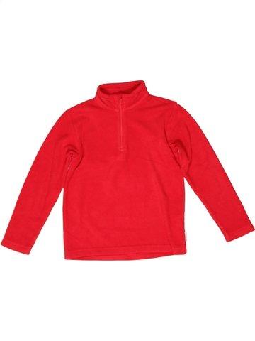 Pull unisexe QUECHUA rouge 8 ans hiver #1243215_1