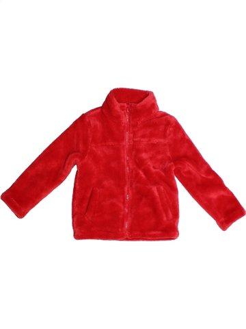 Gilet fille TISSAIA rouge 3 ans hiver #1243704_1