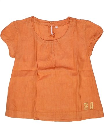 Blusa de manga corta niña CAPTAIN TORTUE naranja 8 años verano #1244824_1