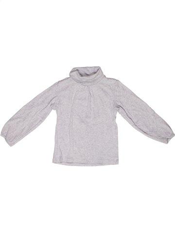 T-shirt col roulé fille LA REDOUTE CRÉATION blanc 3 ans hiver #1244839_1