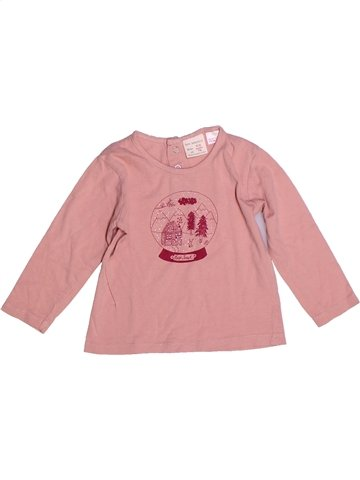 T-shirt manches longues fille ZARA rose 9 mois hiver #1245924_1