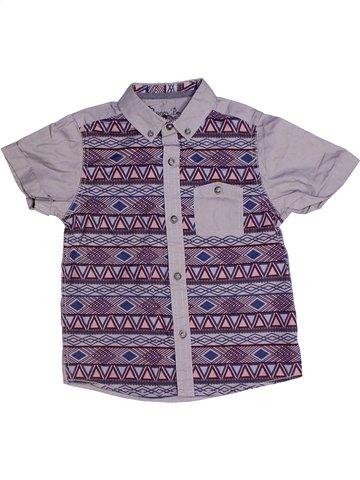Chemise manches courtes garçon MATALAN violet 5 ans été #1246123_1