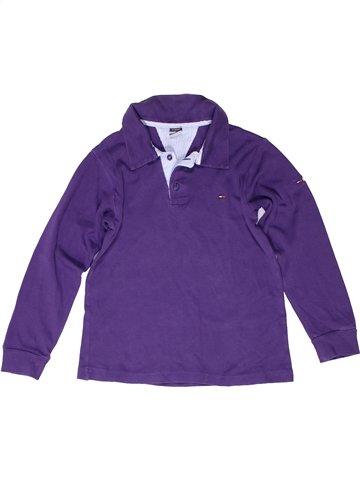 Polo manches longues garçon TOMMY HILFIGER violet 10 ans hiver #1249428_1