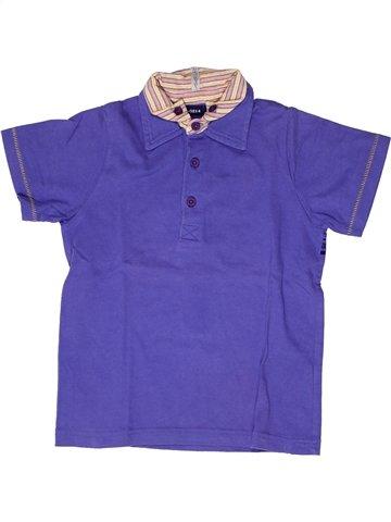 Polo manches courtes garçon YCC-214 violet 6 ans été #1250388_1
