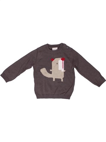 Pull garçon MY LITTLE BEAR marron 6 mois hiver #1252071_1