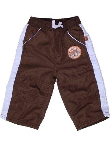 Pantalon garçon OKAY marron 6 mois hiver #1252216_1