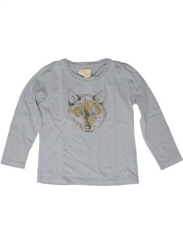Camiseta de manga larga niño MONOPRIX gris 6 años invierno #1252540_1