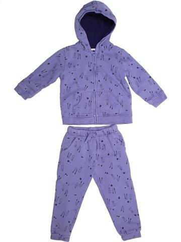 Conjunto niño BOUT'CHOU violeta 3 años invierno #1252599_1
