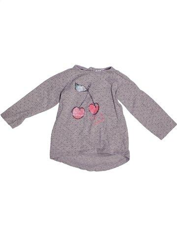T-shirt manches longues fille LA REDOUTE CRÉATION gris 2 ans hiver #1252929_1