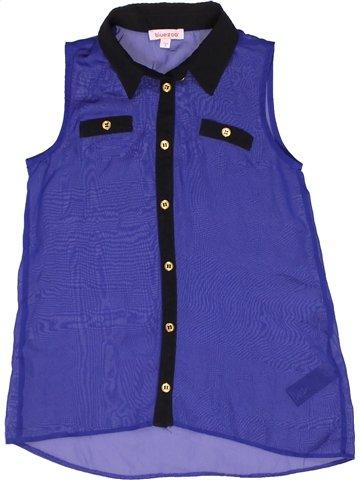 Blusa de manga corta niña BLUEZOO violeta 9 años verano #1253576_1