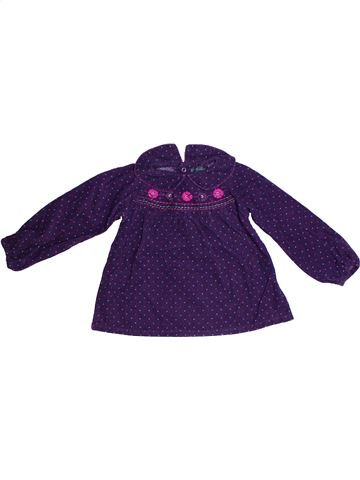 Blouse manches longues fille KIMBALOO violet 2 ans hiver #1256674_1