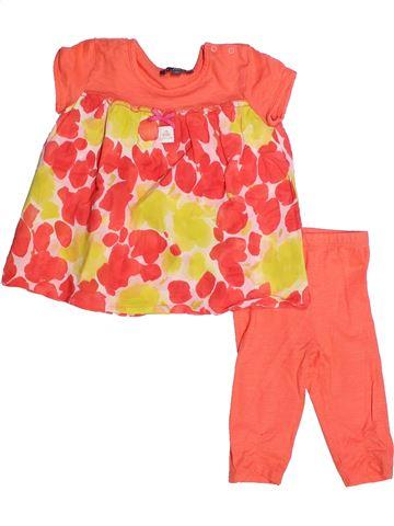 Ensemble fille FLORIANE orange 2 ans été #1257033_1