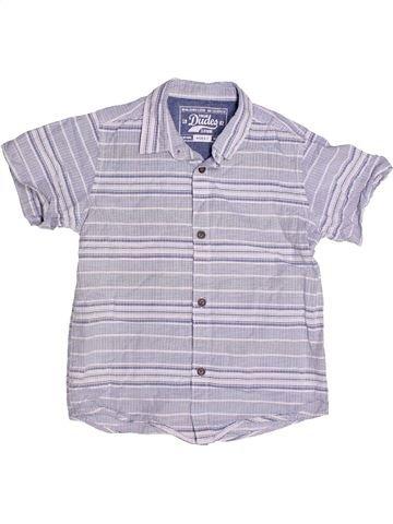 Chemise manches courtes garçon DUDES violet 7 ans été #1258009_1