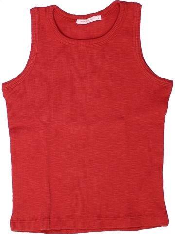 Camiseta sin mangas niña MONOPRIX rojo 6 años verano #1258297_1