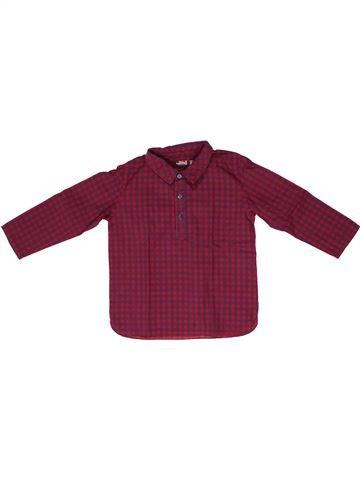 Camisa de manga larga niño BOUT'CHOU violeta 3 años invierno #1258377_1