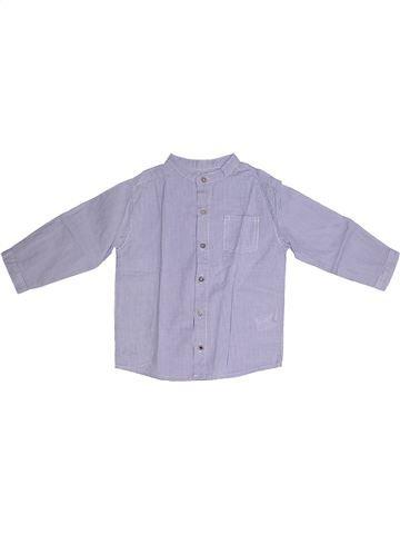 Camisa de manga larga niño BOUT'CHOU violeta 2 años invierno #1260293_1