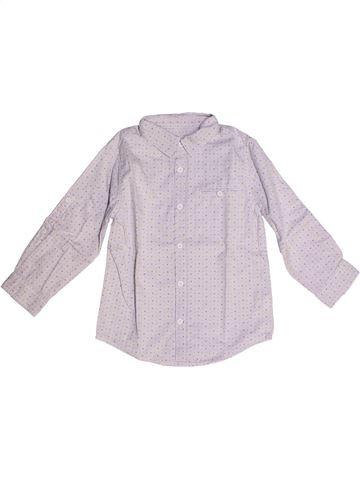 Chemise manches longues garçon DPAM blanc 4 ans hiver #1260865_1