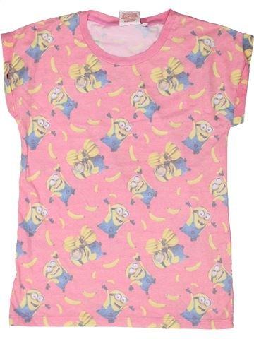 T-shirt manches courtes fille LES MINIONS rose 13 ans été #1261206_1